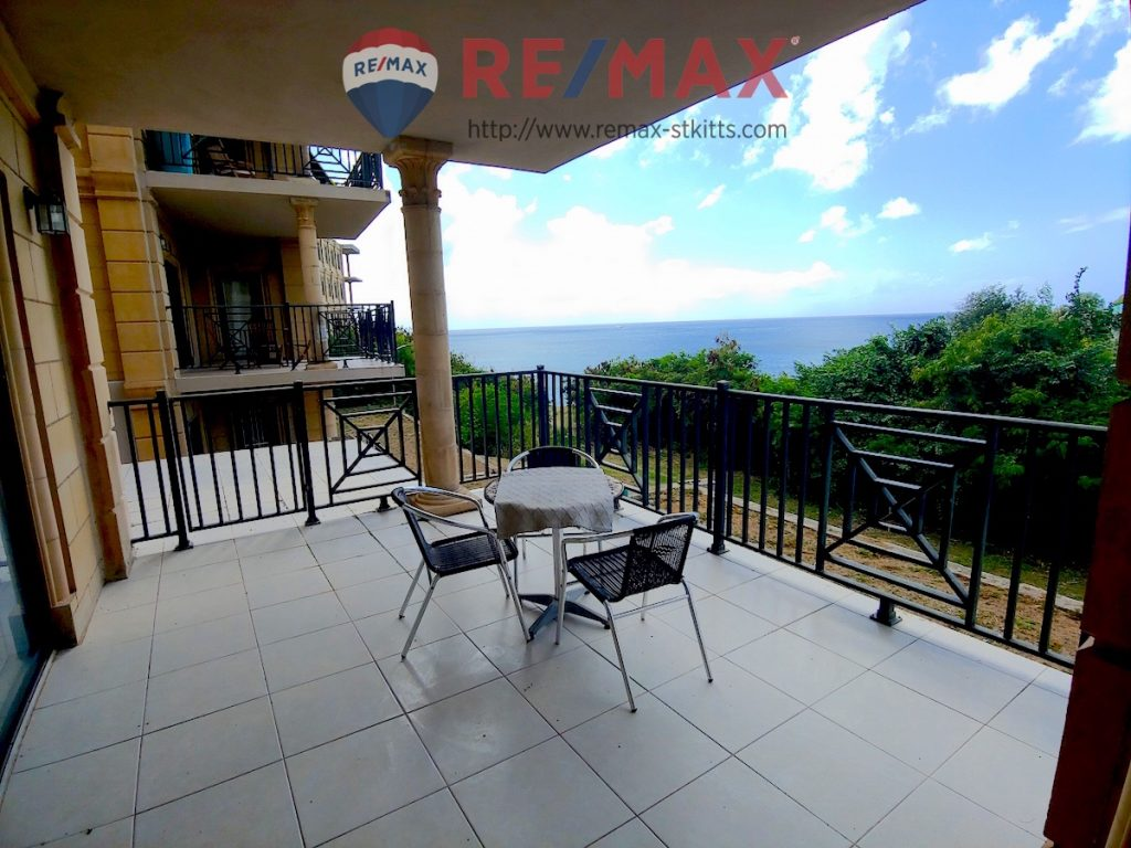 Patio at Manor by the Sea ground floor condo with a view